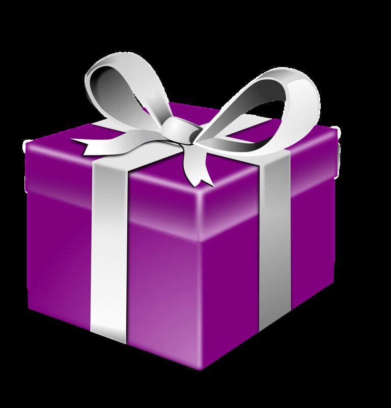 purple box silver bow