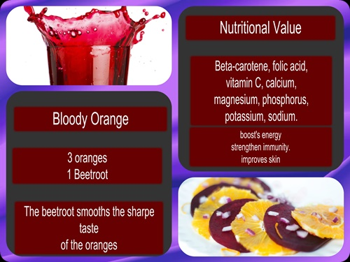 beet and orange Juice