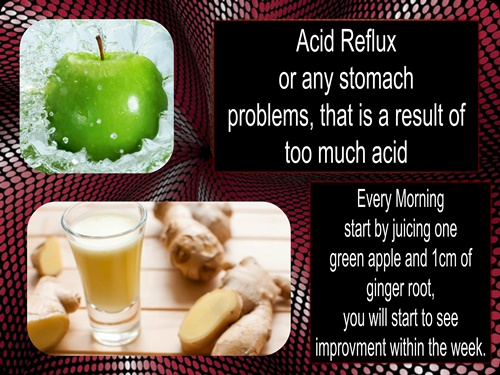 green apple and ginger root