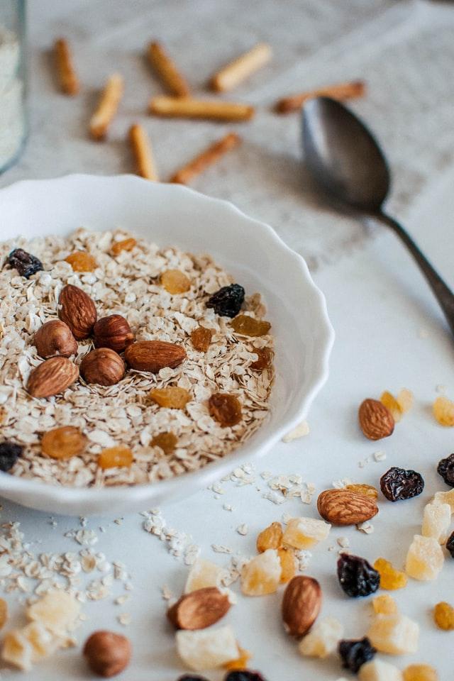 granola in dish